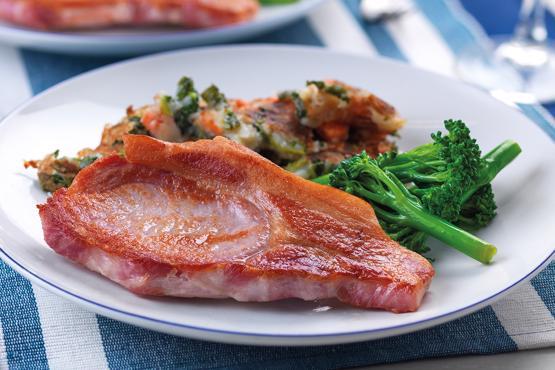 Sweet Cured Bacon Chops