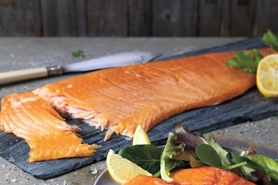 Hot Oak Smoked Salmon Side