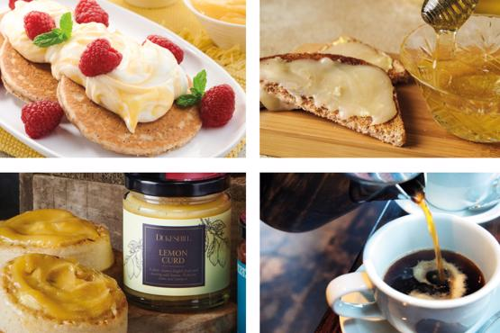 Lemon Pancake Breakfast Selection