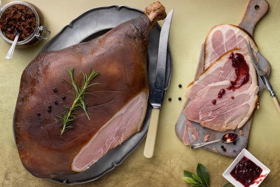 Large Bone-In Shropshire Black Ham