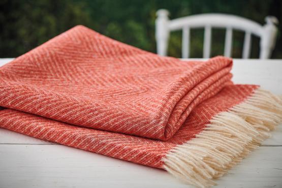 Orange Throw / Picnic Blanket