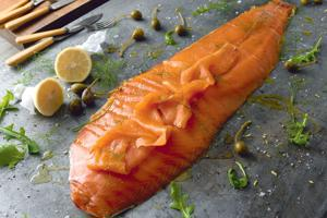 Sliced Oak Smoked Salmon Side