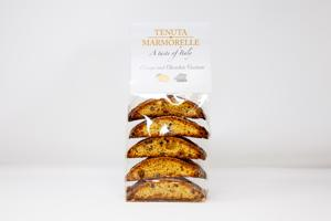 Cantucci with Orange and Chocolate