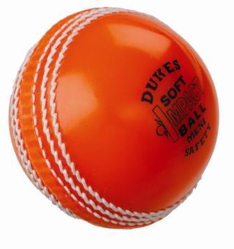 Dukes ORANGE Soft Impact Safety Cricket
