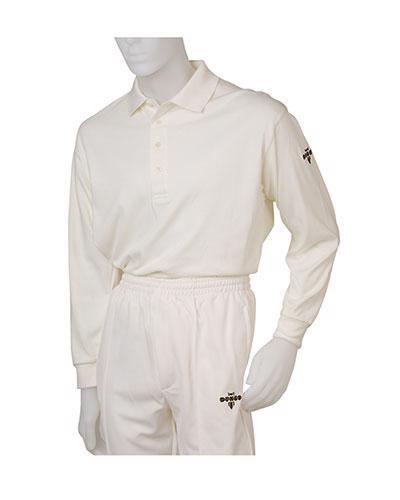 Dukes Pique Long Sleeve Cricket Shirt