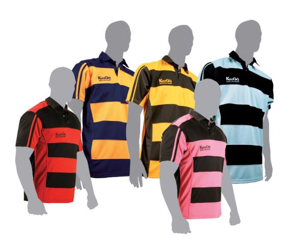 KooGa Match Hooped Rugby Shirt