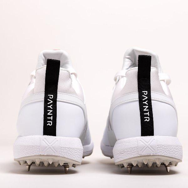 Payntr X MK3 Spike Cricket Shoes WHITE