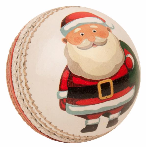 Hunts County SANTA Leather Cricket Ball
