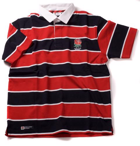 England Rugby Hooped Short Sleeve Rugby%