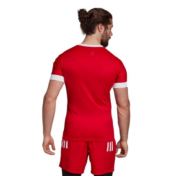 adidas 3 Stripe Fitted Rugby Jersey RE