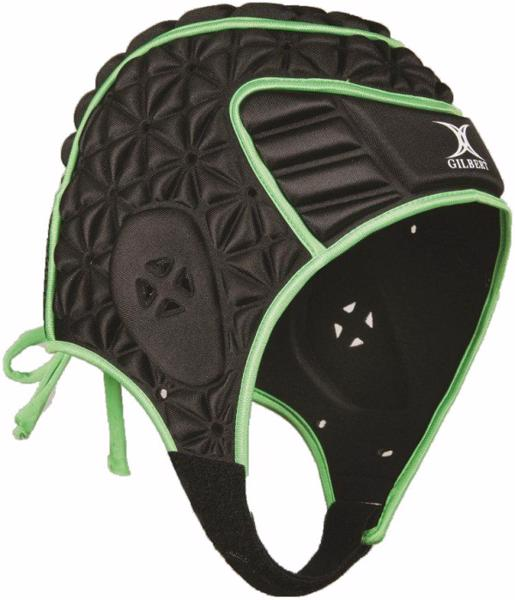 Gilbert Evolution Headguard, BLACK/GREEN