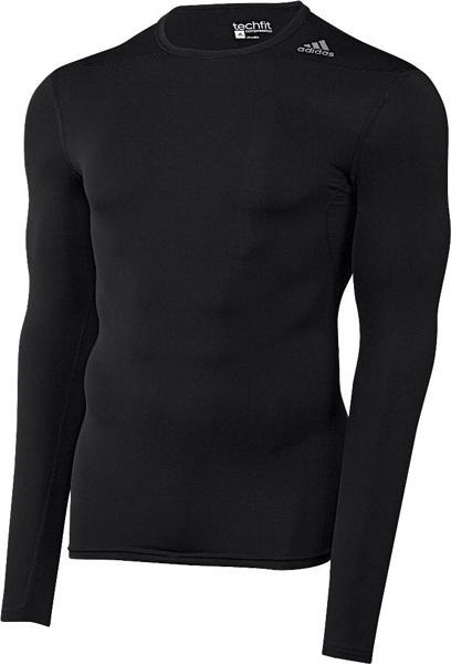 adidas TechFit BASE Long Sleeve, BLACK
