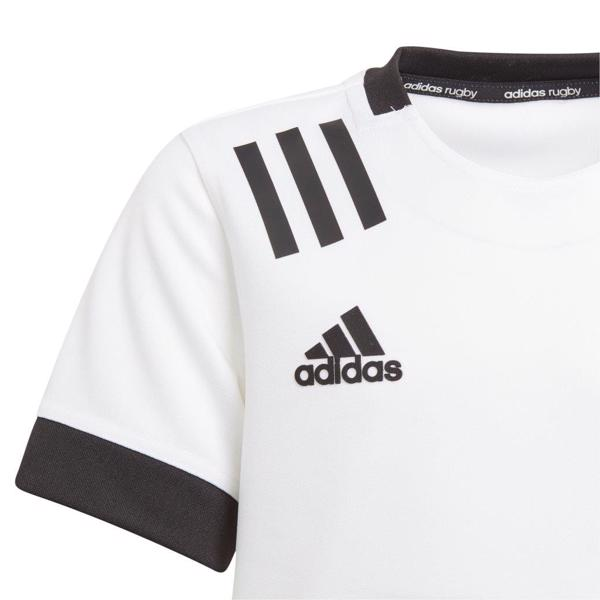 adidas 3 Stripe Rugby Jersey WHITE/BLACK