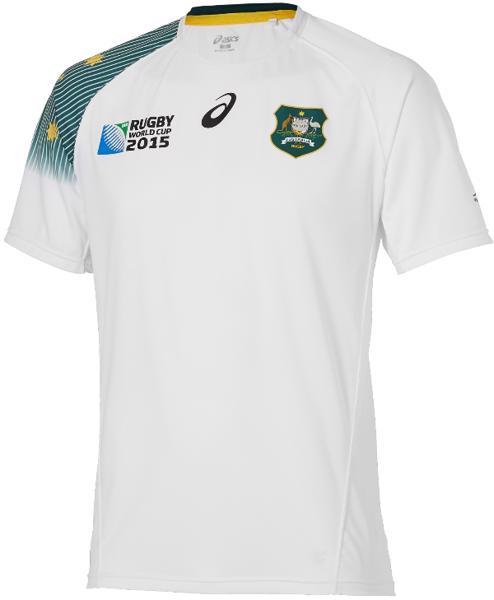 Asics RWC2015 Wallabies Away Rugby Shirt