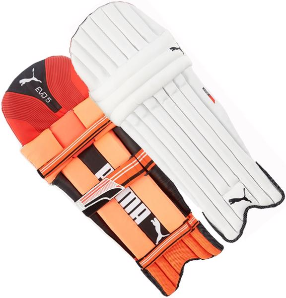 Puma Evo 5 TW RED Batting Pads JUNIO