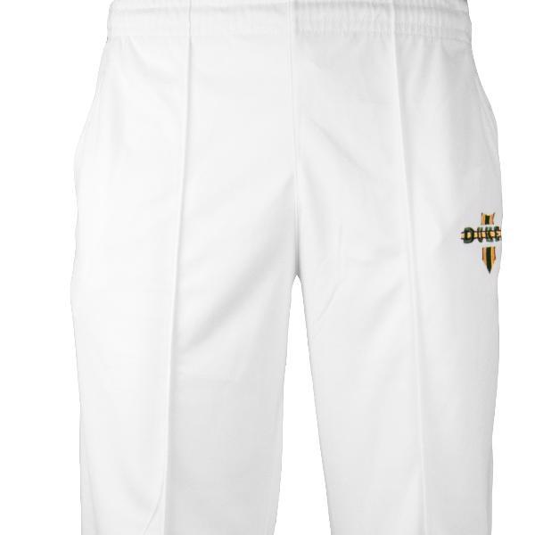 Dukes Bright White Cricket Trousers