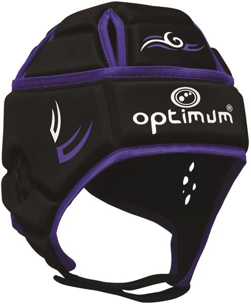 Optimum Tribal Rugby Headguard BLACK/BLUE