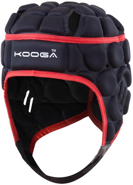 Kooga Elite Rugby Headguard BLACK/RED