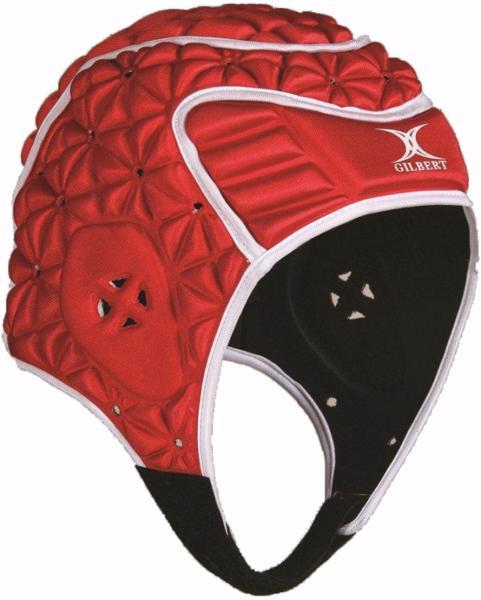 Gilbert Evolution Headguard, RED/WHITE