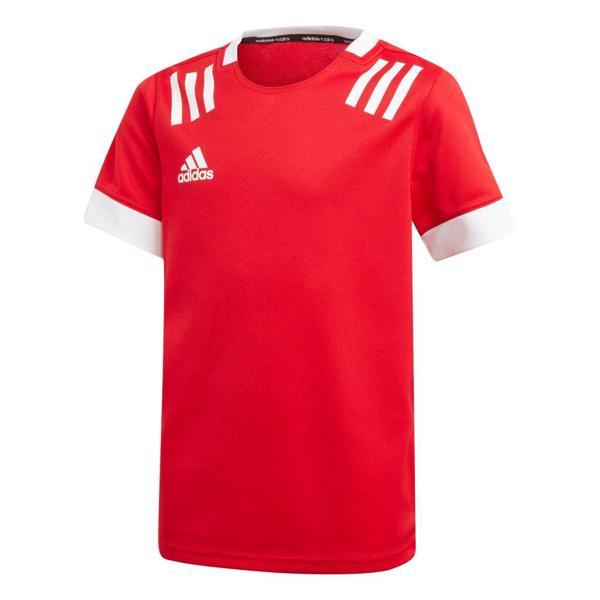 adidas 3 Stripe Rugby Jersey JUNIOR RE