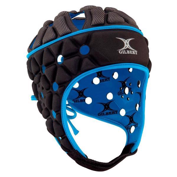 Gilbert Air Rugby Headguard BLACK/BLUE
