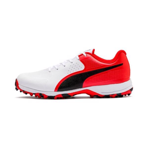 Puma Cricket 19 FH Rubber Shoe WHITE/R