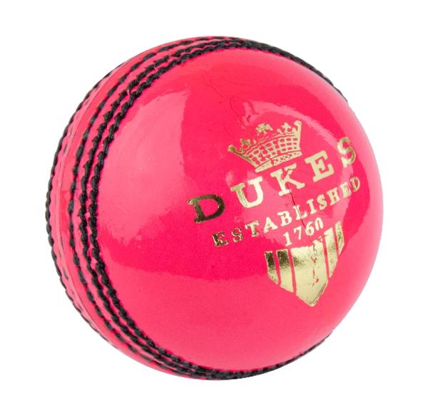 Dukes Crown School Cricket Ball PINK