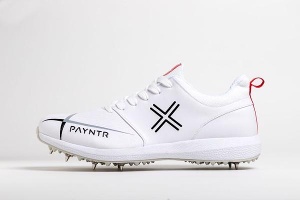 Payntr V Spike Cricket Shoes WHITE