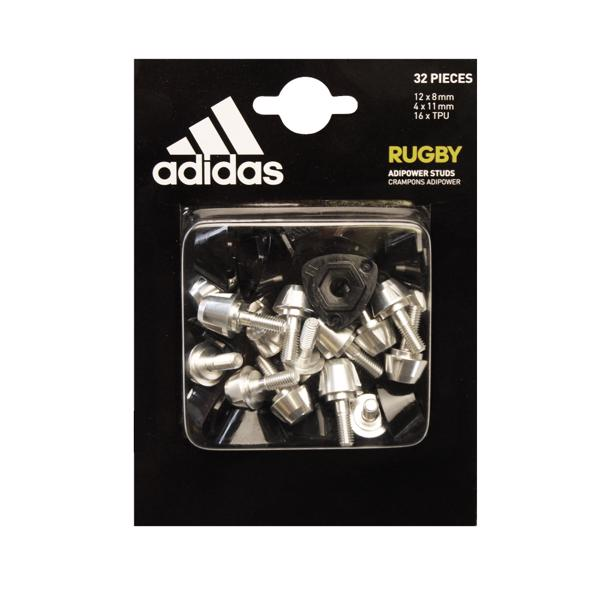 adidas adipower Rugby Studs BLACK/SILVER
