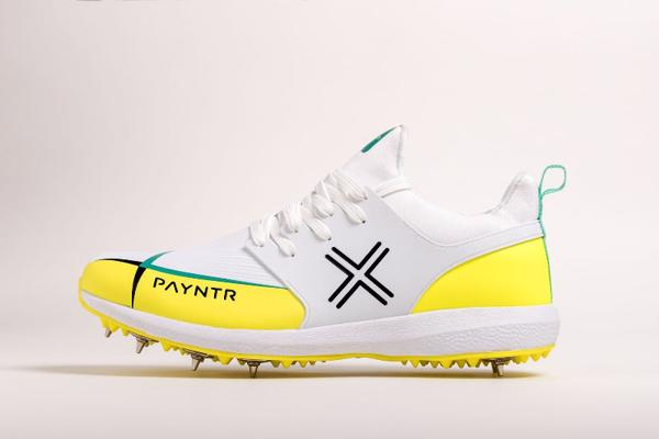 Payntr X MK3 Spike Cricket Shoes YELLO