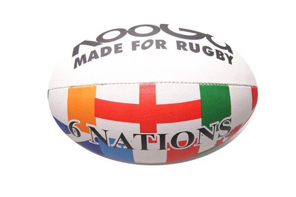 KooGa 6 Nations Flag rugby ball.