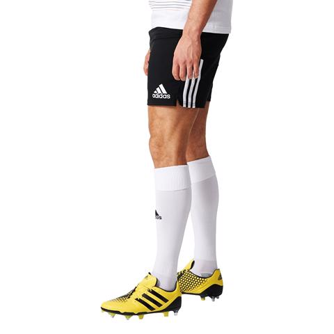 adidas 3 Stripe Rugby Shorts BLACK,