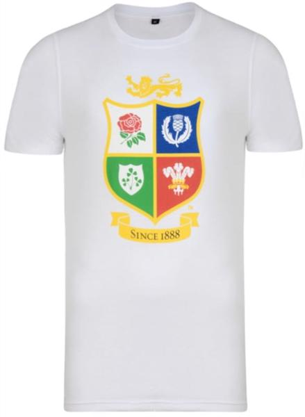 Lions Rugby JUNIOR Logo Tee WHITE