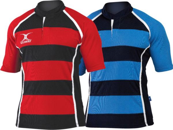 Gilbert Xact Hooped Match Rugby Shirt