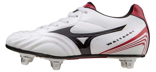 Mizuno Waitangi JR Rugby Boots WHITE/RED