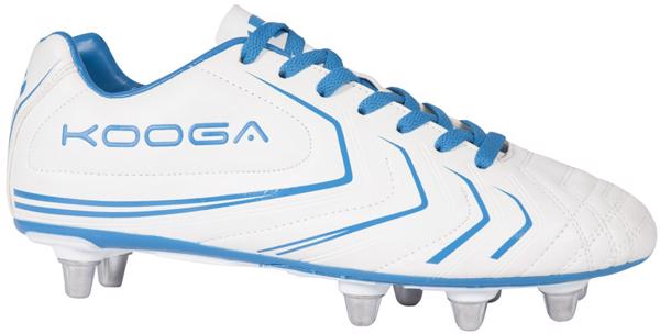 Kooga Warrior 2 Rugby Boots WHITE/BLUE