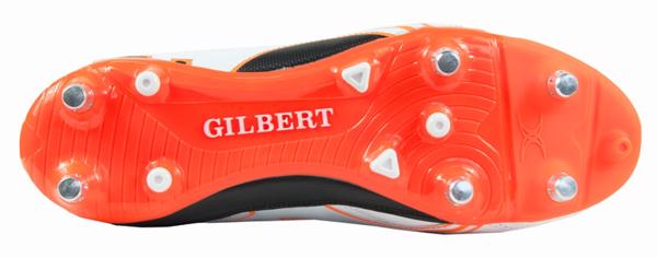 Gilbert SPRINT 6S Rugby Boot WHITE