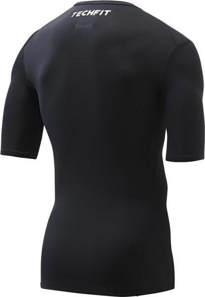 adidas TechFit BASE Short Sleeve, BLAC