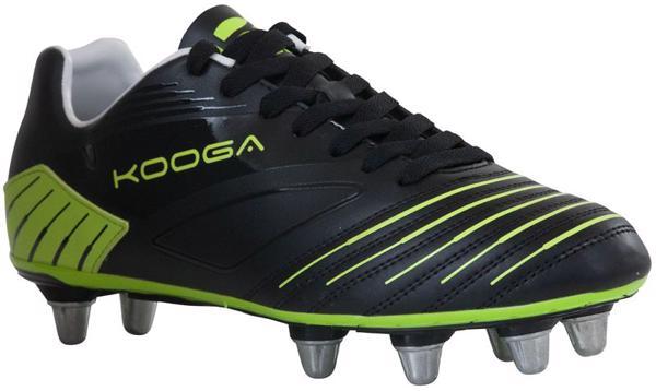 Kooga Advantage Rugby Boots BLACK/LIME J