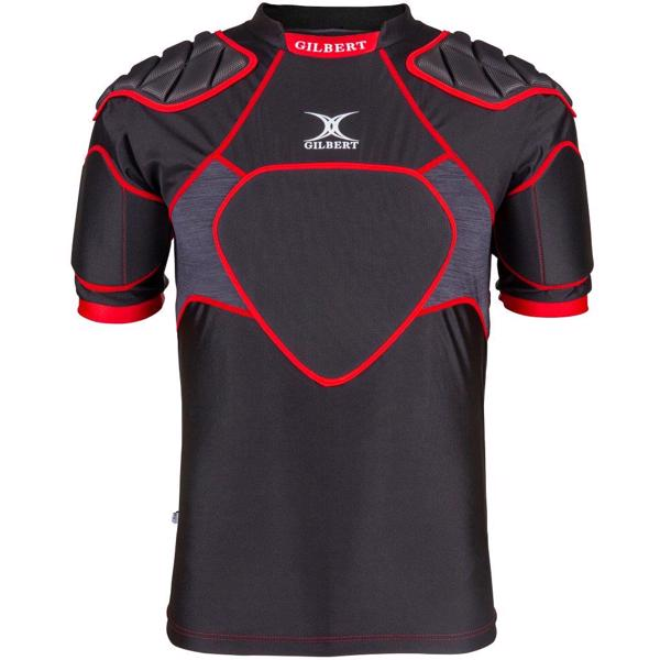 Gilbert XP300 Rugby Body Armour BLACK/RE