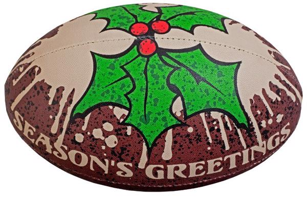 Gilbert Christmas Pudding Rugby Ball Siz