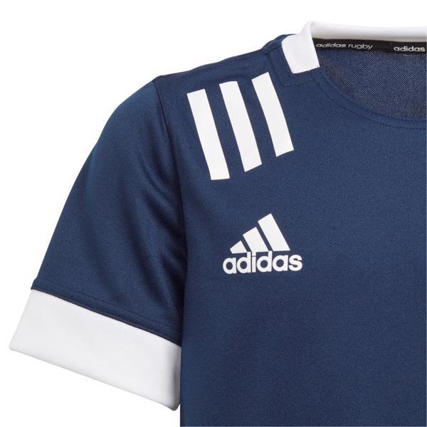 adidas 3 Stripe Rugby Jersey NAVY/WHITE%