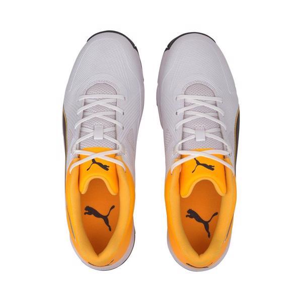 Puma 19.1 Cricket Spike Shoe WHITE/ORANG