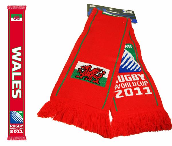 Rugby World Cup Wales Jaquard Scarf
