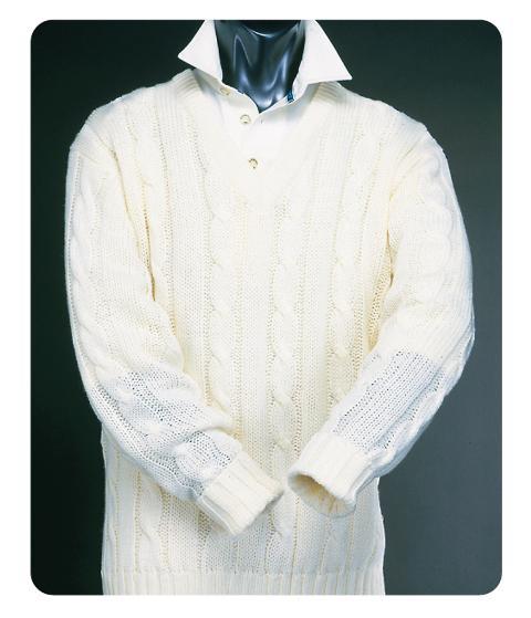 Long Sleeve Plain Cricket Sweater
