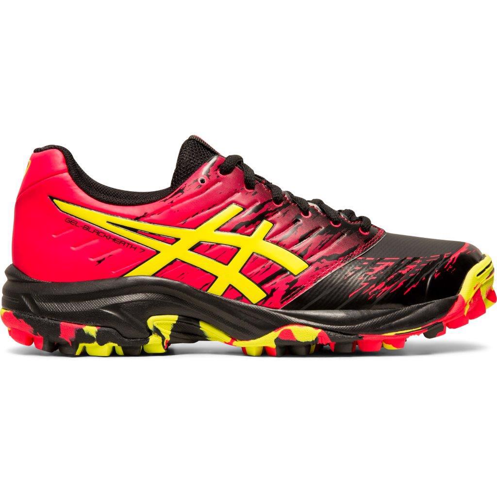 Asics GEL-Blackheath 7 WOMENS Hockey Shoes BLACK/SOUR YUZU