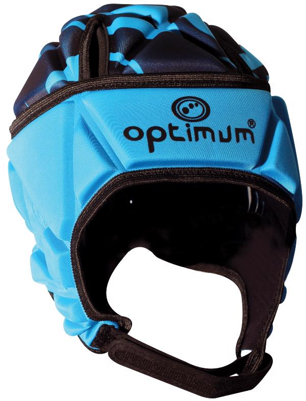 Optimum Razor Rugby Headguard CYAN/BLACK