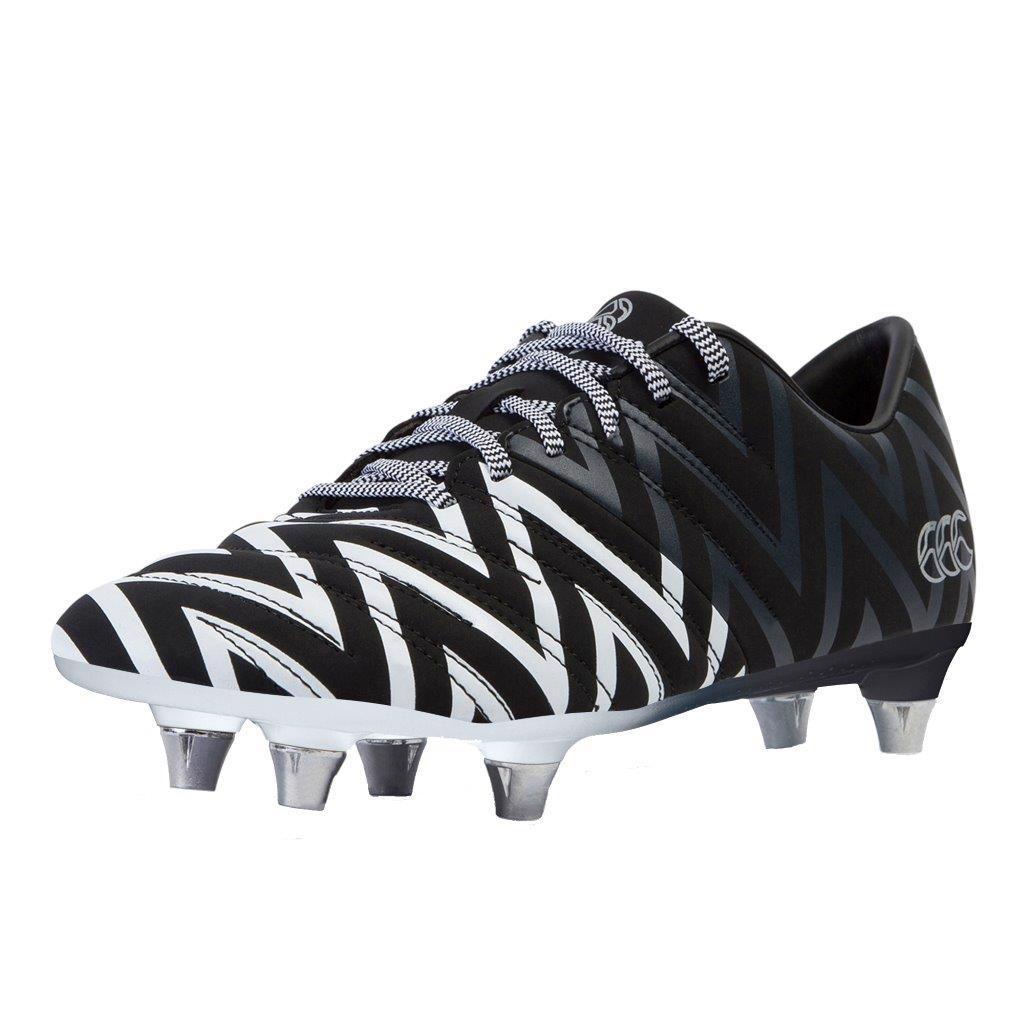 Canterbury Phoenix 2.0 SG Rugby Boots BLACK/WHITE JUNIOR
