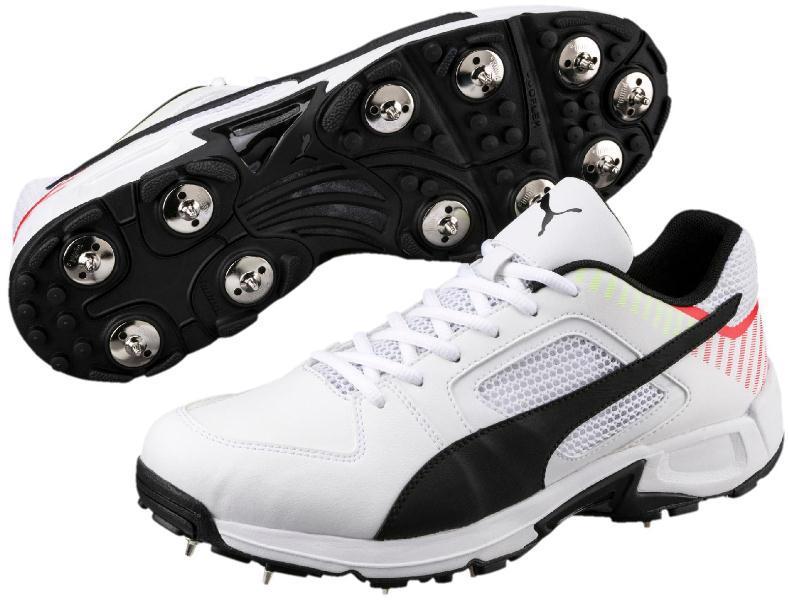Puma Team Full Spike II Cricket Shoe WHITE