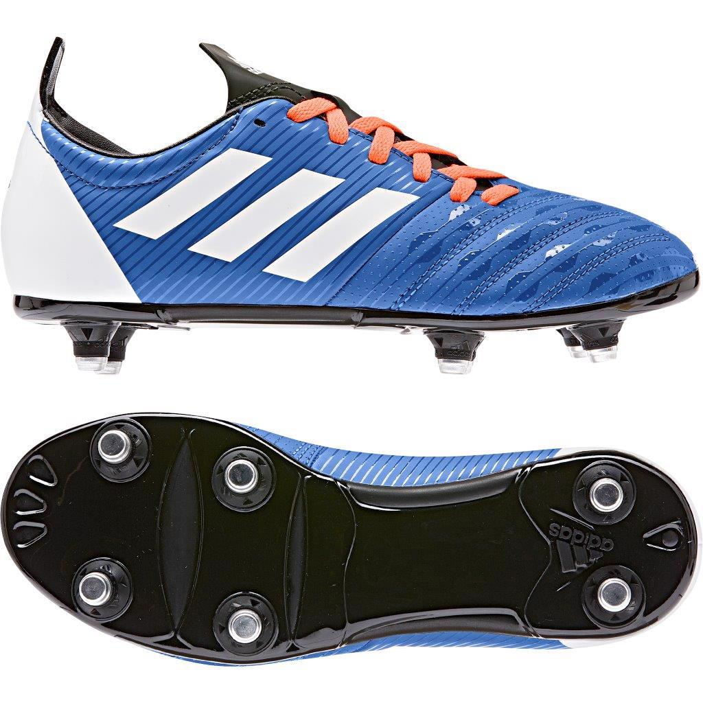 adidas MALICE SG Rugby Boots BLUE, JUNIOR